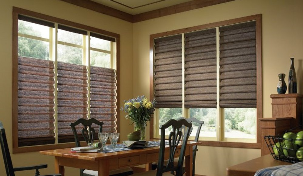 Fallbrook temecula roman shades roller shades for Roman blinds for large windows